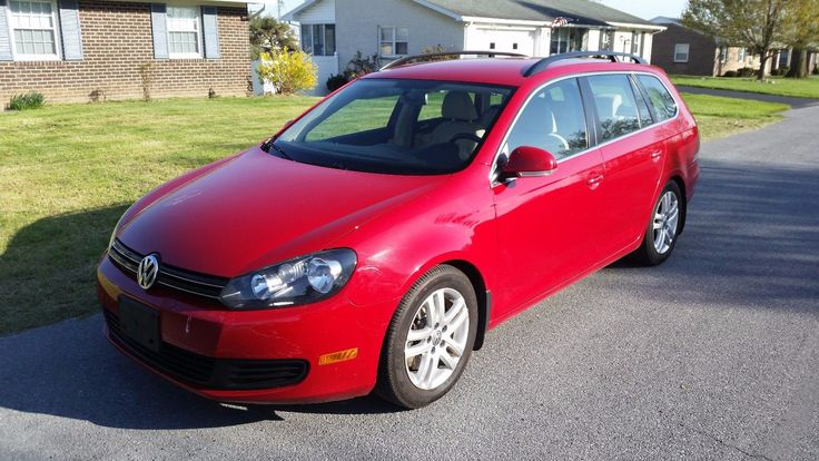awesome Awesome 2010 Volkswagen Jetta TDI 2010 VW JETTA TDI TURBO DIESEL WAGON NON SMOKER 6 SPEED MANUAL RED 2018