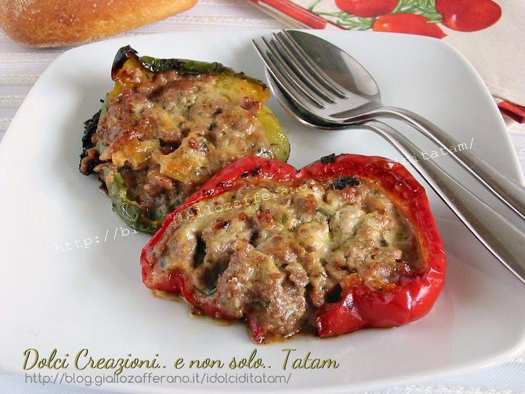 Peperoni al forno farciti con carne   ricetta secondo piatto completo