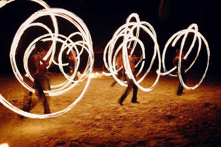 Fire Show Fun ... beautifully captured here by photographer: @kelleewalsh   #Vanuatu #FireShow #HolidayInnResort