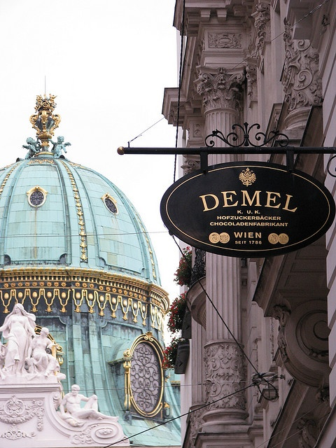 Cafe Demel. The reason why Demel is better than your average Viennese cafe: there is a gift shop with amazing chocolates, and you can watch the amazing pastry chefs while you eat!
