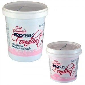 Fat Daddios Rolled Fondant - Light Pink - Vanilla - 8 oz Golda's Kitchen