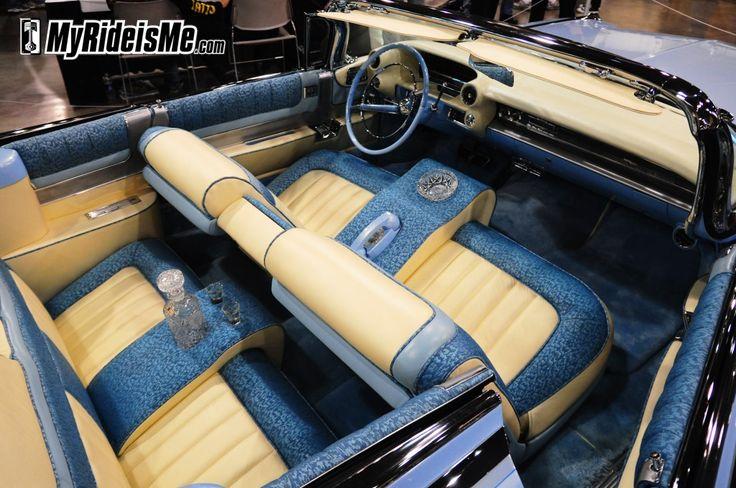 1959 cadillac eldorado biarritz custom interior swedish white leather and blue calf skin details. Black Bedroom Furniture Sets. Home Design Ideas