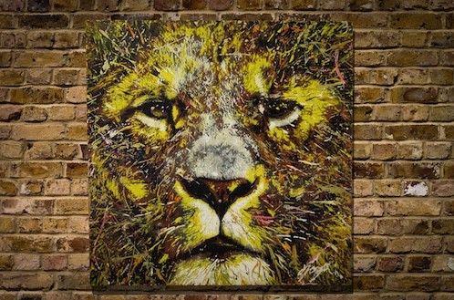 LIONサイズ S15 652mm×652mmウッドパネル作品原画スプレーアート作品こちらの作品はモダンアートやポップアートを感じられるテイストが...|ハンドメイド、手作り、手仕事品の通販・販売・購入ならCreema。