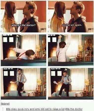 It's okay guys Rory and Amy did get to raise a kid it's The Doctor.