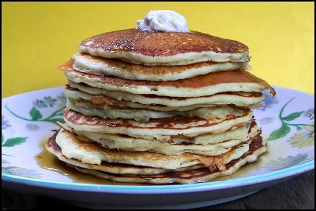 buttermilk pancakes I recipe from my aunt