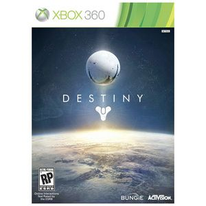 "Destiny For XBOX 360 Release Date: 12/31/13 pre-order available!  ""Everything changed with the arrival of the Traveler. It sparked a Golden Age when our civilization spanned our solar system, but it didn't last. Something hit us, knocked us down. The survivors built a city beneath the Traveler, and have begun to explore our old worlds, only to find them filled with deadly foes. You are a Guardian of the last safe city on Earth, able to wield incredible power."""