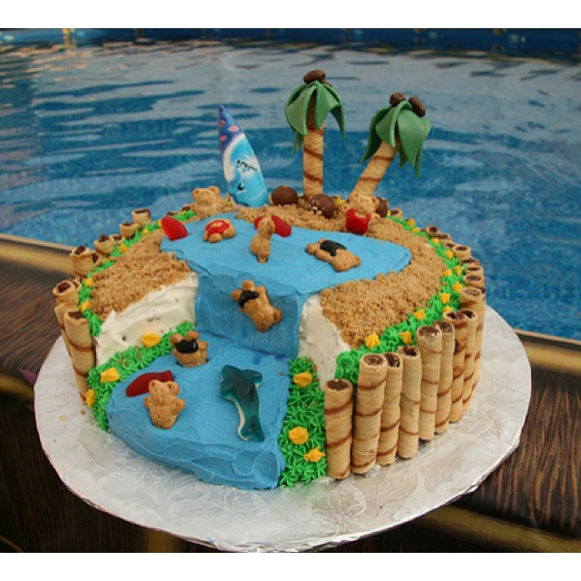 Birthday Cake Ideas Beach : 15 best images about Cake Decorating Ideas on Pinterest ...