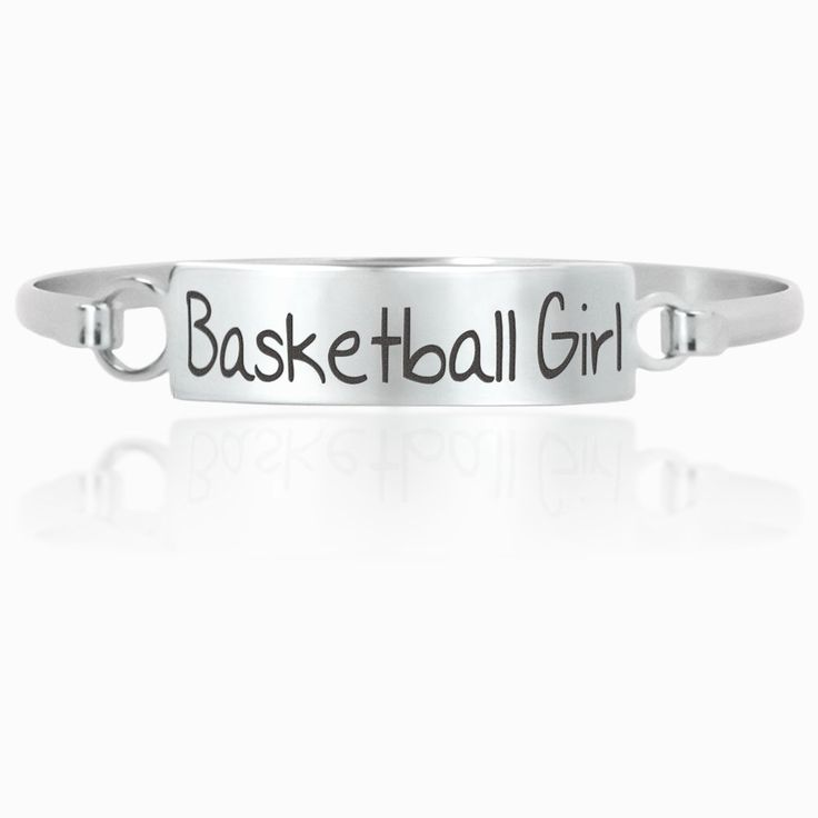 Basketball Clasp Bracelet – Basketball Girl | Engraved Girls Basketball Player Jewelry | Stainless Steel Basketball Bracelet | Girls Basketball Gift – Products