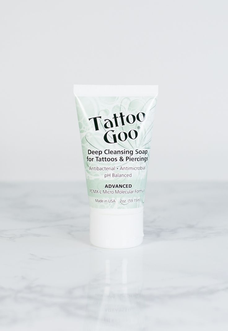 Shop Tattoo Goo® Deep Cleansing Soap. Perfect for those with new ink, our soap cleans skin at a deep level by removing dead skin cells and killing bacteria without damaging the skin. Along with olive oil, this soap leaves skin feeling silky with no dry aftermath. Use with our Tattoo Goo® Lotion for the ultimate silky-skin result.