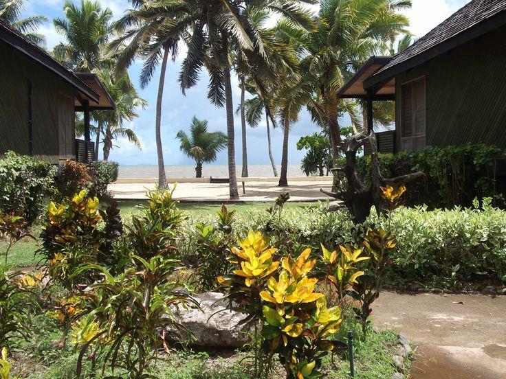 #Travel: Sea views from the gardens between the bures, #Sonaisali Island Resort, #Fiji.  Photo Credit: Dawne Rudman