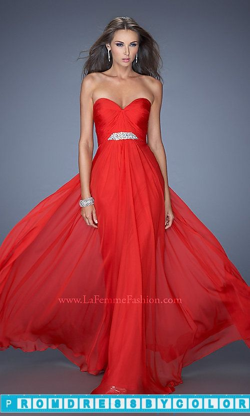 $170 Red Prom Dresses - Long Strapless Sweetheart Evening Dress at www.promdressbycolor.com #Red Prom Dresses