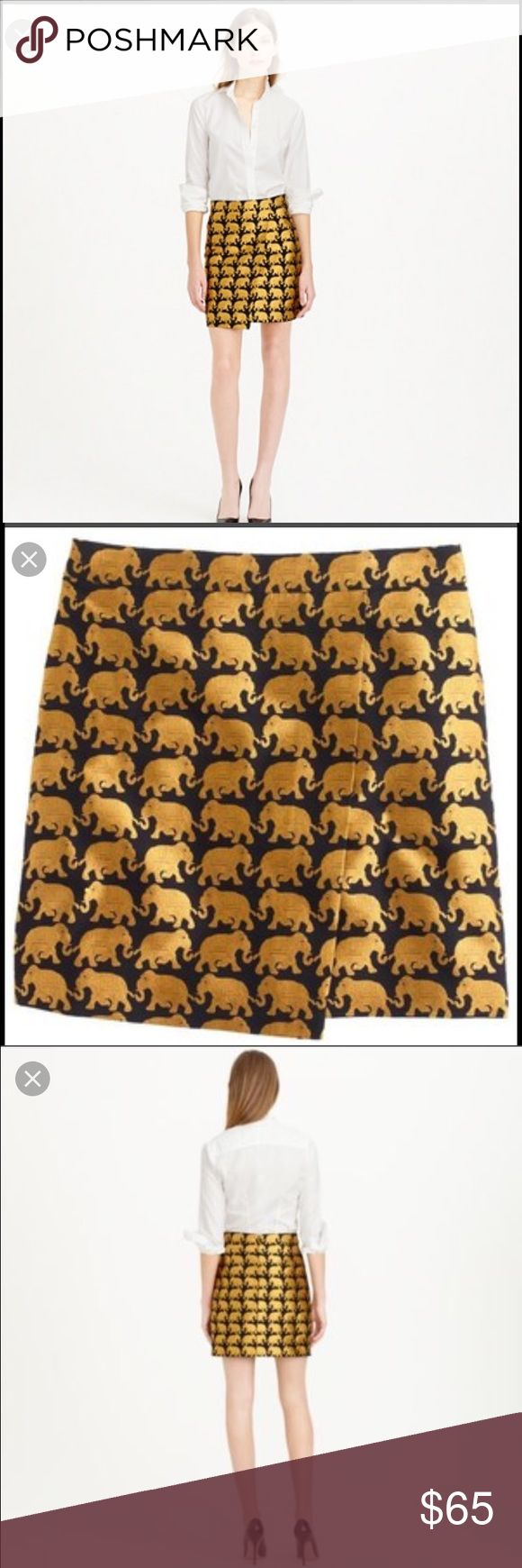 J Crew origami skirt in elephant parade Excellent used condition, j crew origami skirt in elephant parade J. Crew Skirts Mini