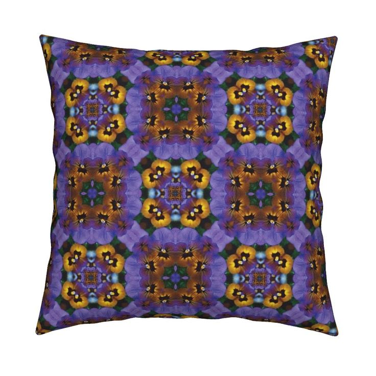 Pansy_Infinity_Square on Catalan by karwilbedesigns | Roostery Home Decor