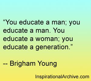Brigham Young quote on education