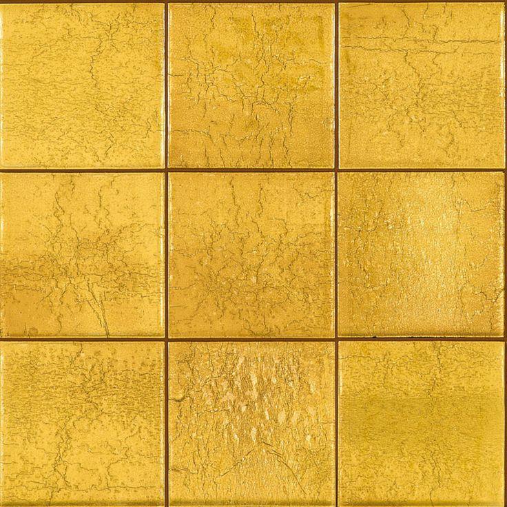 Yellow Floor Tile Kitchen