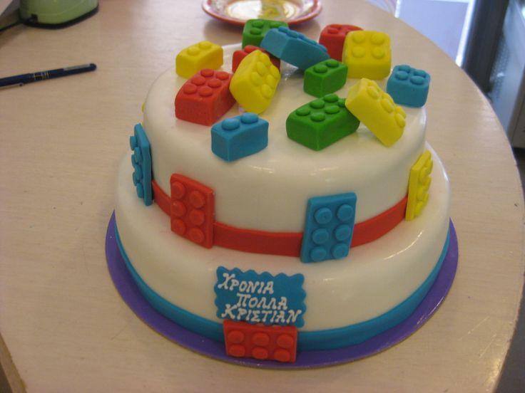 Τούρτες Γενεθλίων - Διόροφη Lego! #sugarela #TourtesGenethlion #Lego #BirthdayCakes