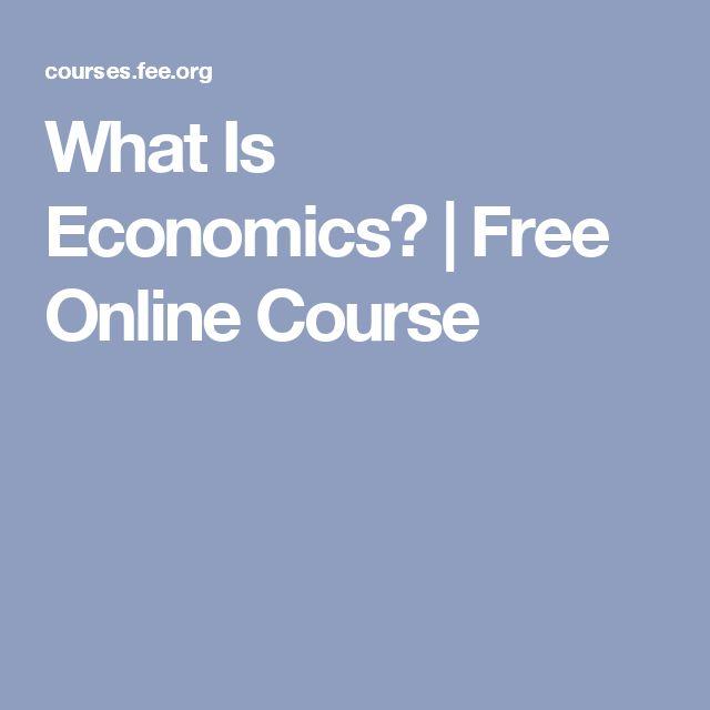What Is Economics? | Free Online Course