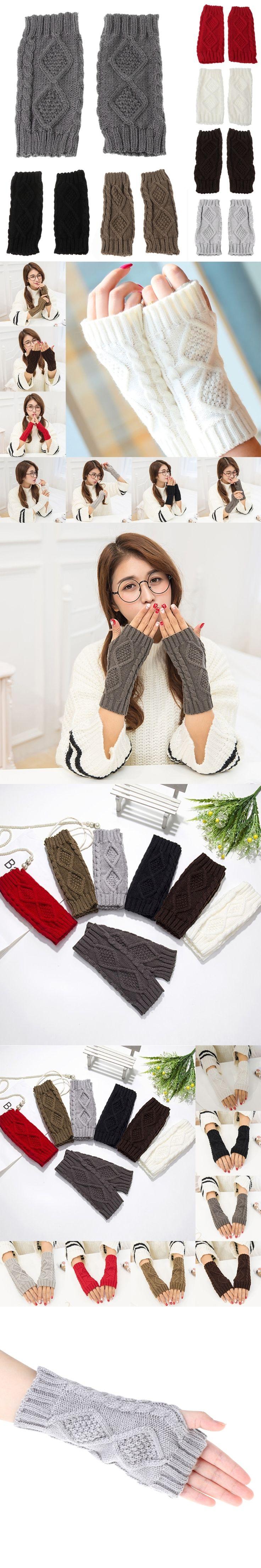 women gloves Stylish hand warmer winter gloves women Arm Crochet Knitting faux Wool Mitten warm Fingerless Gloves,gants femme