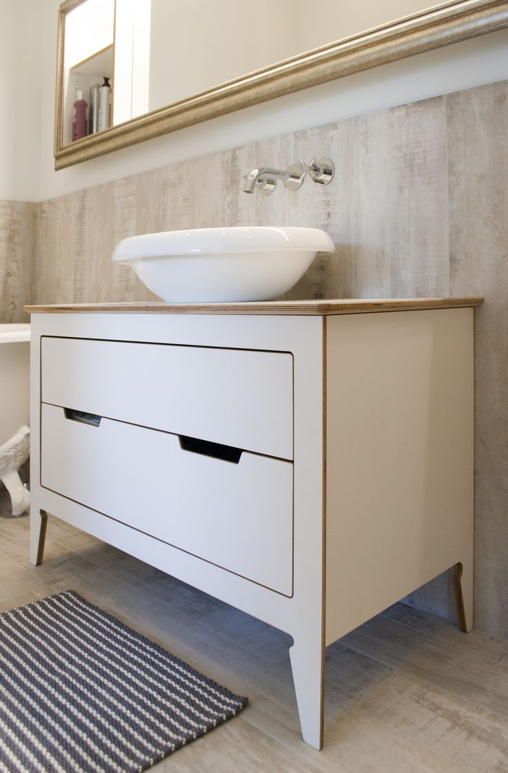 bathroom cabinet by ZHILIONIS WORKSHOP, material - birch plywood with HPL coating