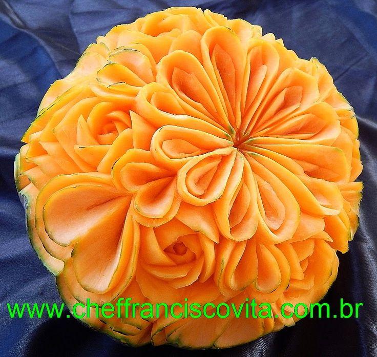 Lesson 20, Carving, การแกะสลักผลไม้, 水果雕刻, Ukiran buah, 果物のカービング, Khắc t...