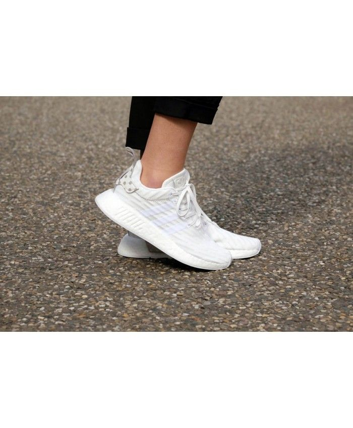 ad38570ce1e17 Adidas NMD R2 Primeknit Core White All Vintage White Trainers Cheap Sale