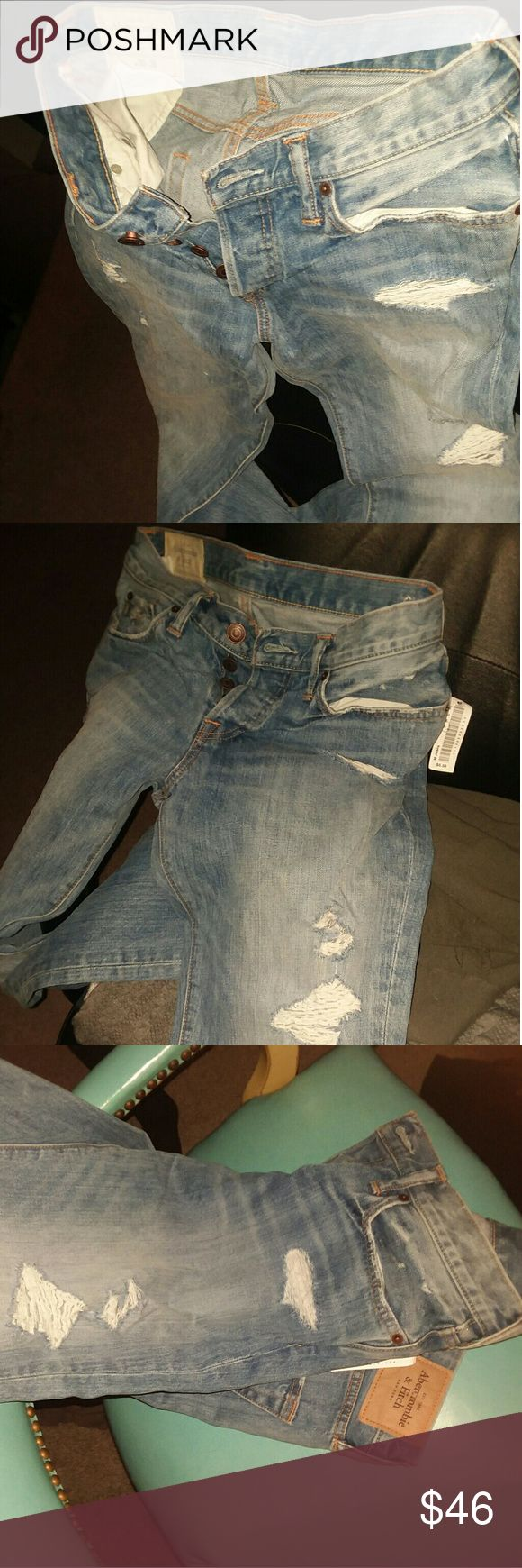 30`30W Mens AbercrombieFitch ClassicStraight Jeans Perfect Condition Like New with Unoriginal Tags Abercrombie & Fitch Jeans Straight