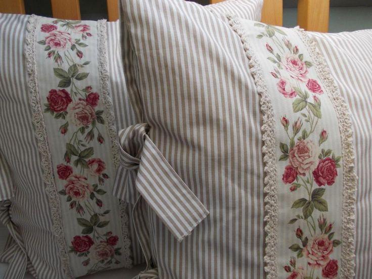 Úžitkový textil - Vankúš,Vankúšiky - Vidiecky Štýl, Čajová Ruža - 2104171