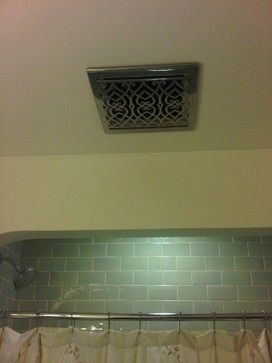 use a grill for a heater vent for a nicer bathroom fan cover