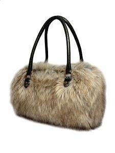 GOSHICO fur bowling bag http://www.mybags.co.uk/goshico-fur-bowling-bag.html