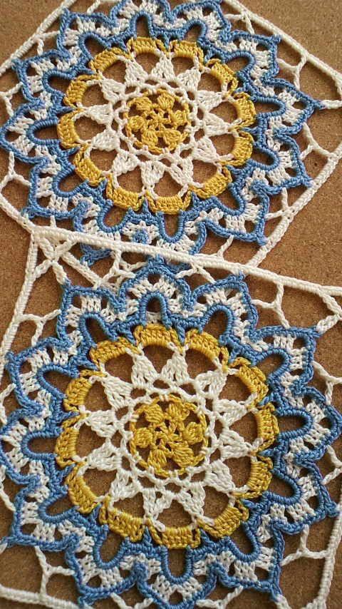 トルコタイル風レース編みの会DN5 その1 の画像|野の花手芸噺