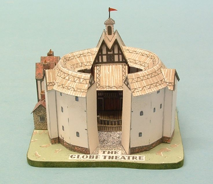 Model of globe theatre diorama miniature model art for Theatre model
