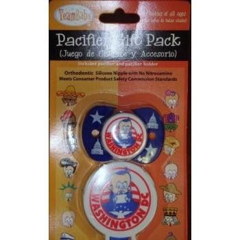 washington dc - team baby pacifier Case of 12