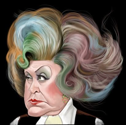 The scratchings of Tel: Mrs Slocombe (Mollie Sugden) from Are You Being Served? by Terry Dunnett