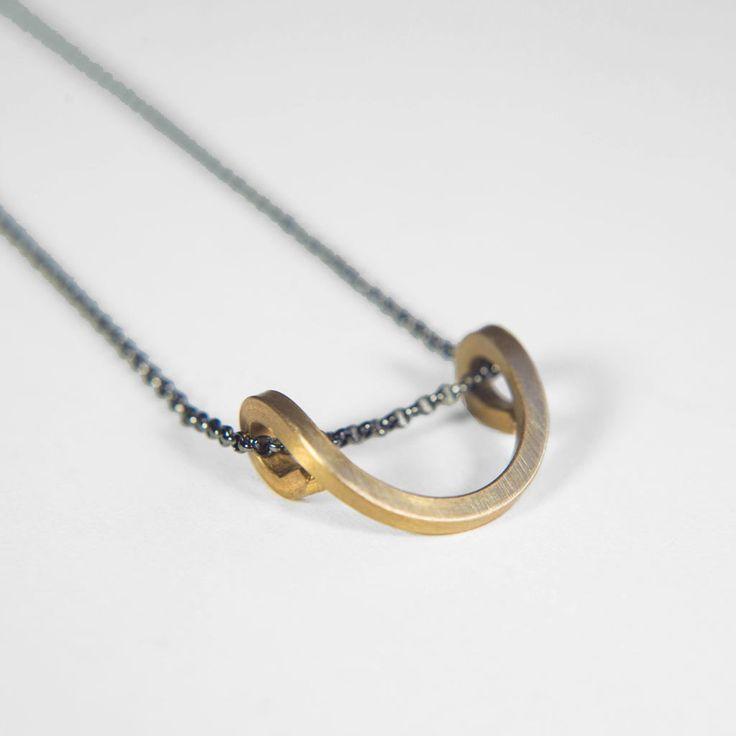 Looped Necklace by Gossamer Jewelry | http://adornmilk.com
