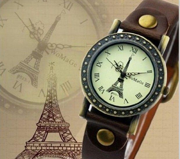 dd65318d274 2014 Watch Eiffel Tower Surface Fashion Woman Quartz Leather Strap Watch  XWT004