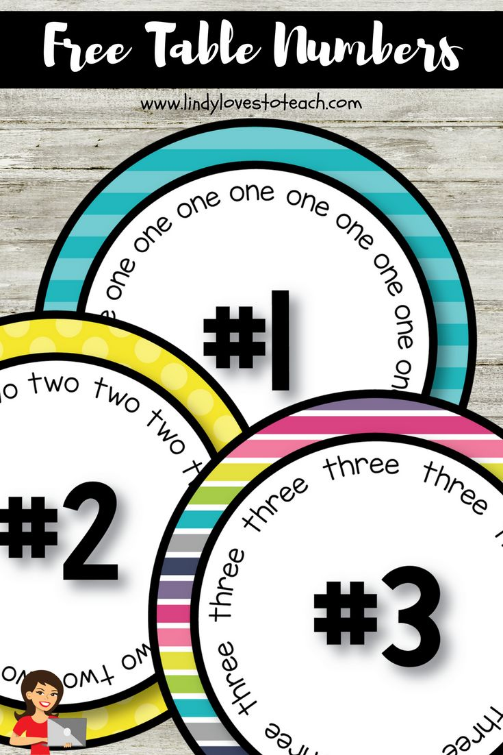 If you're busy getting your classroom ready for the back to school season, then you'll love this free table numbers set. Use it in your elementary, or even high school classroom. The round number labels are bright and bold and will look great in your classroom!