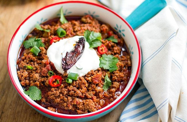 Chili Con Carne with Beef, Chorizo & Chipotle | Eat Drink Paleo