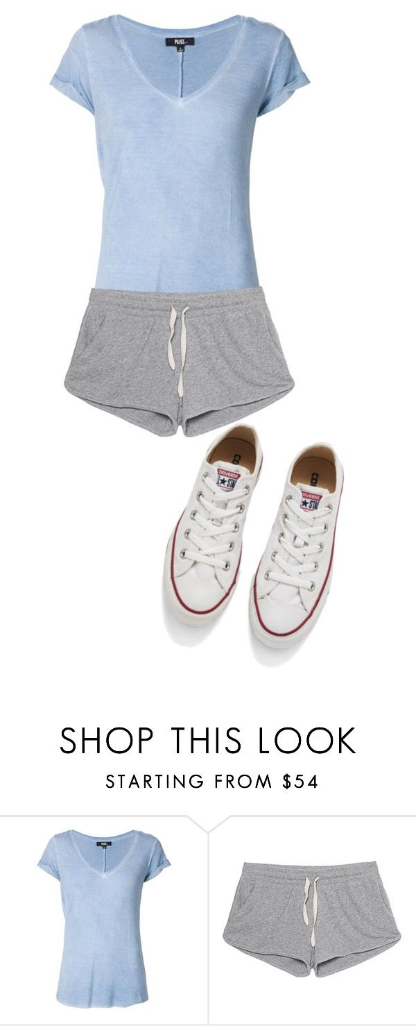 """""""Workout"""" by annabeth-athena ❤ liked on Polyvore featuring mode, Paige Denim, American Vintage en Converse"""