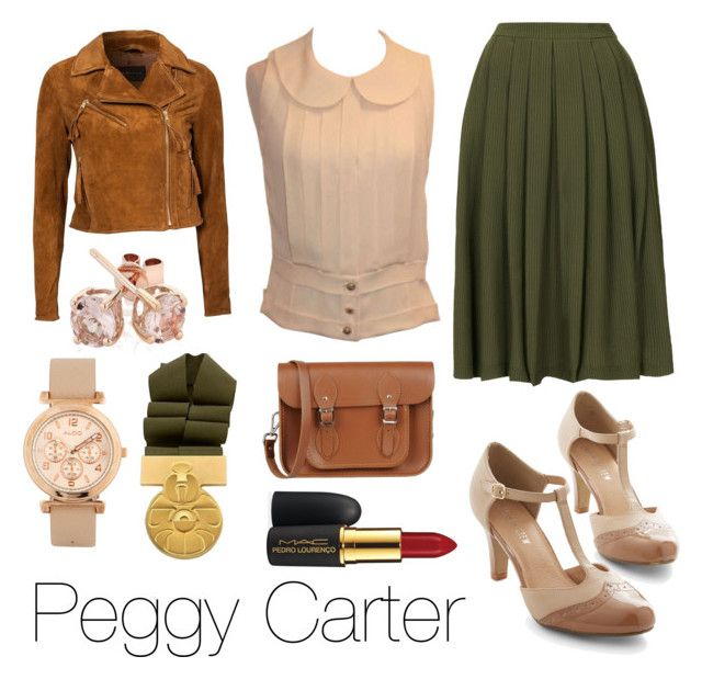 """""""Peggy Carter (SP)"""" by slaintepazybene ❤ liked on Polyvore featuring Topshop, Chanel, Chelsea Crew, Rock'N Blue, The Cambridge Satchel Company, MAC Cosmetics, Reeds Jewelers and ALDO"""