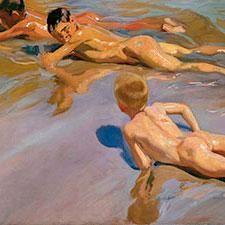 Chicos en la playa,Sorolla. Museo del Prado, Madrid.