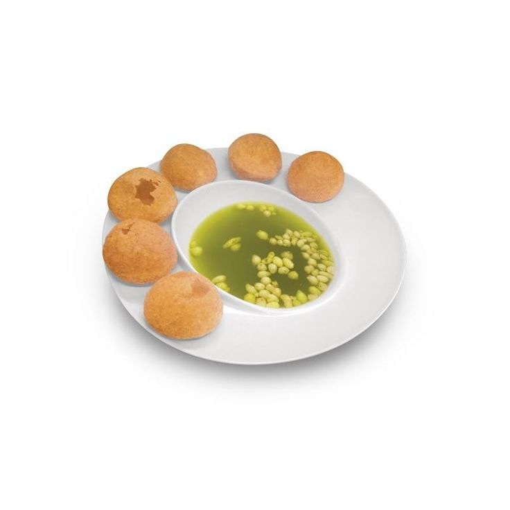 Melamine Pani Puri Plate They are made of acrylic. They are unbreakable and can be used safely in the microwave. They are dishwasher proof and are made of good quality materials. They are light in weight and easy to carry.