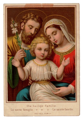 The Holy Family Vintage Holy Card St Vincent of Paul Society  ~Repinned Via Ms. Sadie