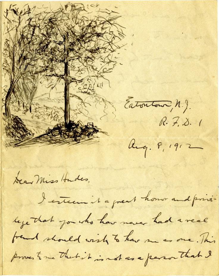 August 8, 1912 Love letter