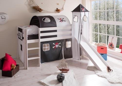 808295 pirat schwarz weiss 500x353 Caballeros y Princesas, camas semi altas y literas para niños