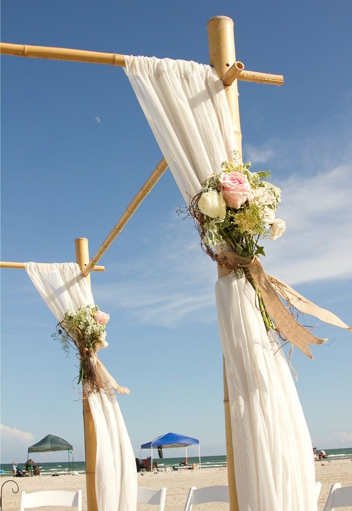 Made From Both Tonkin And Moso Bamboo This Elegant Wedding Arch Has A Slight
