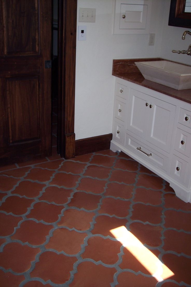 17 best images about saltillo on pinterest traditional for Spanish tile bathroom floor