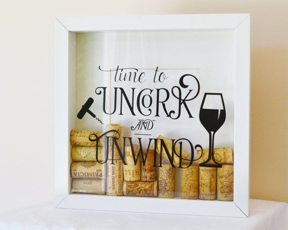 box frame shadow box frame wine cork holder display box wine lovers gift wine cork shadow box wine cork drop box - Shadow Box Frames