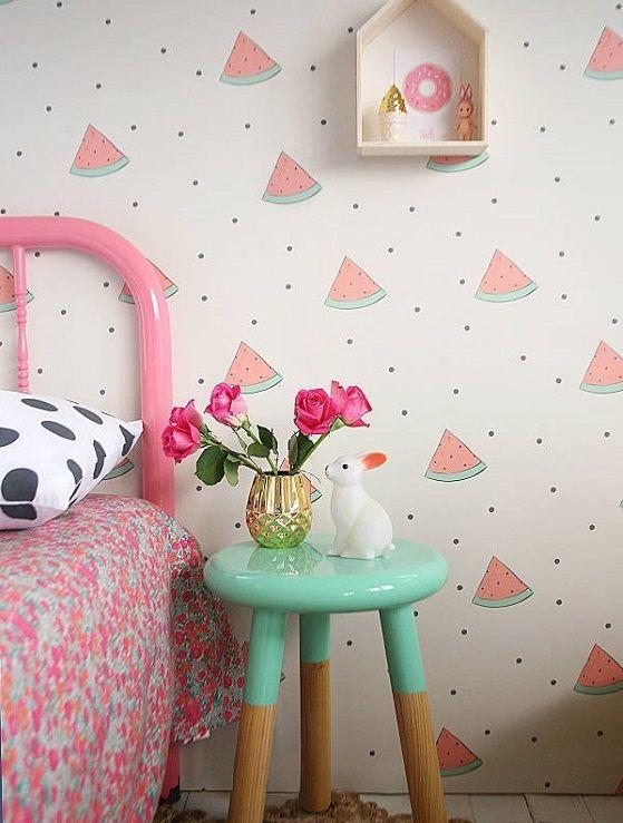 purse sale Papeles infantiles divertidos - Sandías http://www.mamidecora.com/decora-habitaci%C3%B3n-infantil-stickers-papel.htm | Rosie's room |  | Side Tables, …