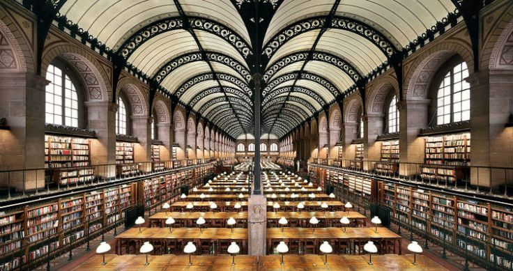 Bibliothèque Sainte-Geneviève, Paris, France | Constructed in the mid-19th century, the Sainte-Geneviève library's iron roof has echoes of the railway buildings of the time