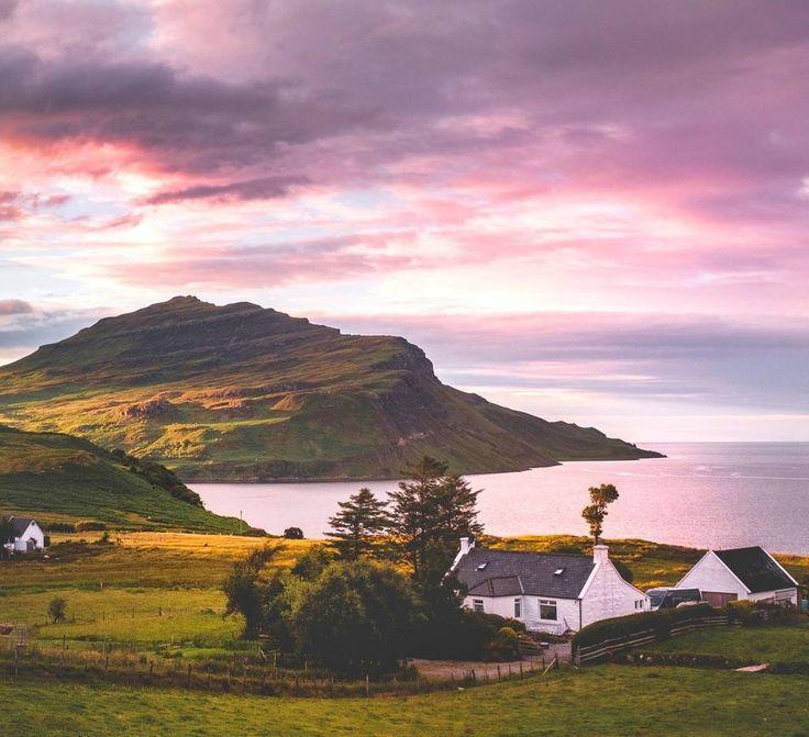 The Isle of Skye near Portree, Scotland is a beautiful place.